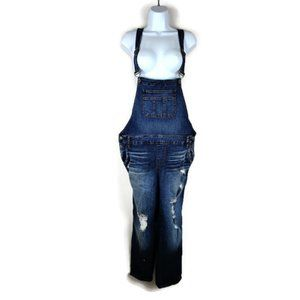 Torrid Crop Distressed Overalls. Size: 14 NWT